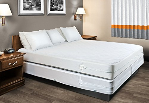 The Original Sleep Defense System - Waterproof / Bed Bug / Dust Mite Proof - PREMIUM Zippered Mattress Encasement & Hypoallergenic Protector - 54-Inch by 75-Inch, Full - Standard 12""