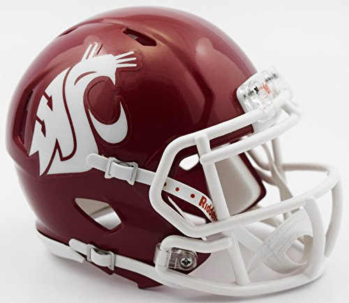 Riddell NCAA Washington State Cougars Helmet Mini SpeedHelmet Replica Mini Speed Style Crimson, Team Colors, One Size ()