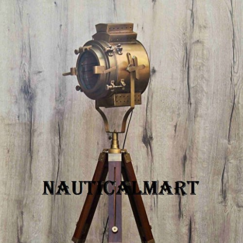Antique Victorian Style Tripod Floor Nautical Living Room Lamp Corner Brass Lamp, Dinning Room light, Spotlight, By Nauticalmart