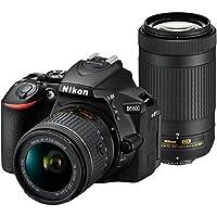 Nikon D5600 Wi-Fi Digital SLR Camera with 18-55mm VR & 70-300mm DX AF-P Lenses + 64GB Card + Case + Flash + Battery & Charger + Grip + Tripod + Kit by Nikon
