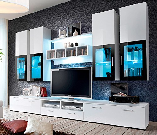 Presto Modern Wall Unit Entertainment Centre Spacious