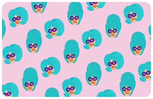Novelty Colorful Girls Mat By Bouffants   Broken Hearts  23  X 36   Multicolor
