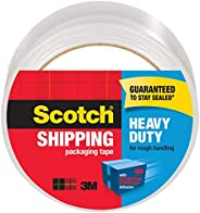 "Scotch Heavy Duty Shipping Packaging Tape, 1.88"" x 65.6 Yards, Clear, Great for Packing, Shipping & M"