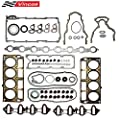 Vincos MLS Full Cylinder Engine Gasket Set Compatible with chevy silverado tahoe gmc sierra 1500 yukon envoy buick trailblazer 4.8L 5.3L V8