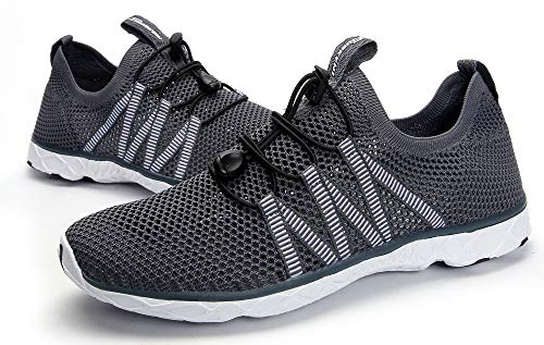 SUOKENI Men's Quick Drying Slip On Water Shoes for Beach or Water Sports Darkgrey by SUOKENI (Image #8)