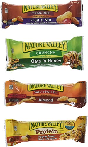 Healthy and Delicious Snack Bar Mix- Sweet & Salty 50 Granola Bars-Nature Valley by Stay at Home Snacks