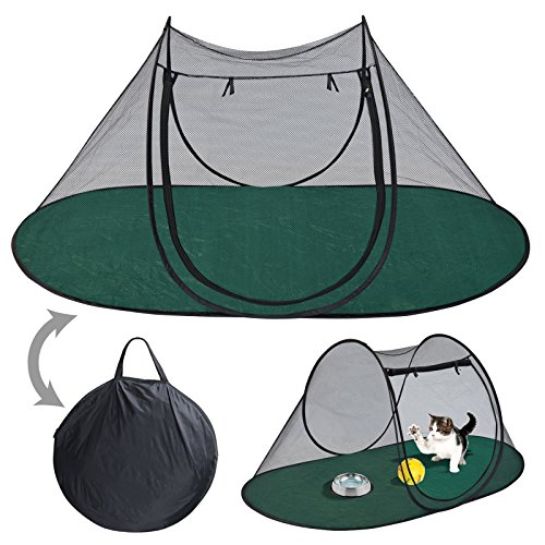 Pet Fun House Cat Dog Playpen Portable Exercise Tent with Carry Bag 189x90x78cm(74.4