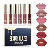 Beauty Sexy 6PCS/ Matte Lip Gloss Sexy Liquid Lipstick Waterproof Long Lasting Moisturizer Professional Lips Balm Makeup