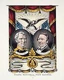Photo Print 11x14: Grand National Whig Banner, Press Onward, circa 1848