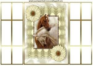 Hermosos caballos cabezas entrelazadas, francés boda por Nick Bowley