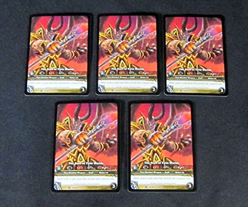Lot of (5) World of Warcraft WoW TCG Staff of Twin Worlds Drums - Weapon Epic (World Of Warcraft Staff)