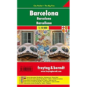 Barcelona City Pocket Map 1:10K FB (English, Spanish, French, Italian and German Edition)