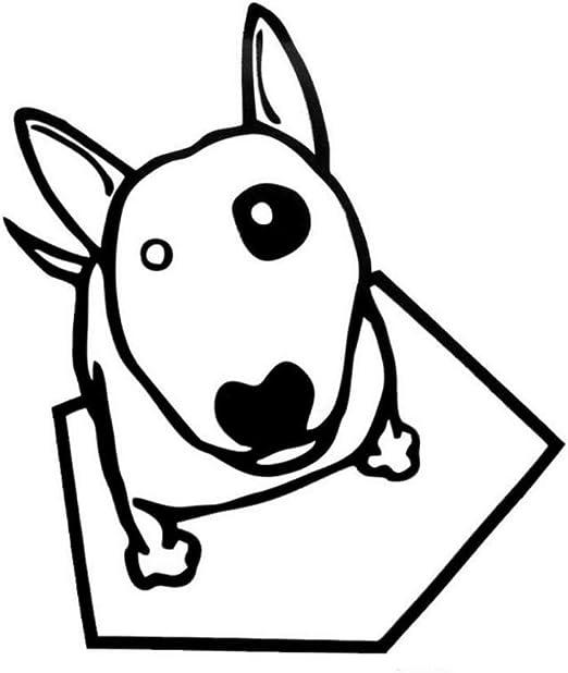 Sticker de carro 12 * 13.9 CM Bull Terrier Dog Car Stickers Impermeables Vinilo Decal Car Styling Truck Decoration 2 unids: Amazon.es: Bricolaje y herramientas