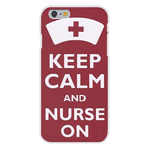 - Apple iPhone 6+ (Plus) Custom Case White Plastic Snap On - Keep Calm and Nurse On Red Cross Cap
