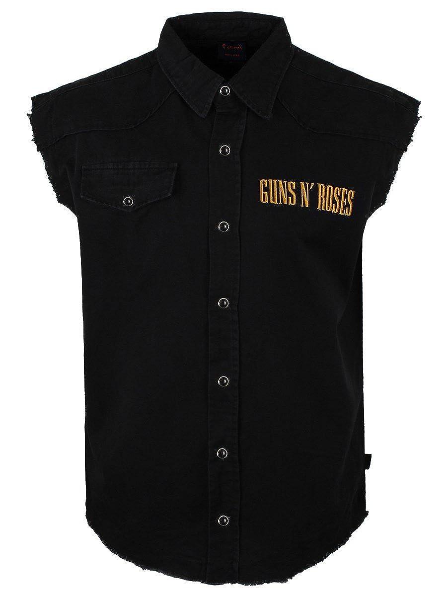 Unbekannt Guns N& 039; Roses Distressed Bullet Sleeveless Workershirt schwarz