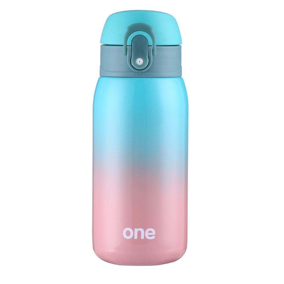 Mini Water Bottle for Kids& Adult, Vacuum Insulated Bottle, Travel Coffee Cup, Stainless Steel Thumbler, Ombre Bottle, Ombre - 320ml/11oz (Green-Pink)