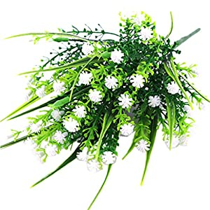 Fityle 4pcs Plastic Artificial Baby'S Breath Flower Arrangement Grass Gypsophila Flower Wedding Floral Decor 5