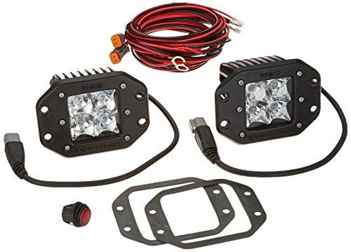 Rigid Industries 21221 Dually Spotlight Flush Mount, (Set of 2)