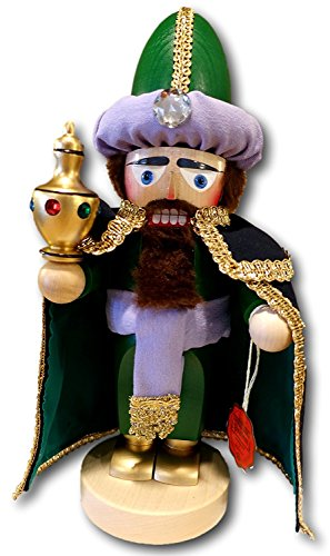 German Christmas Nutcracker Chubby King Melchior - 12.5 inch - Authentic German Erzgebirge Nutcrackers - Steinbach
