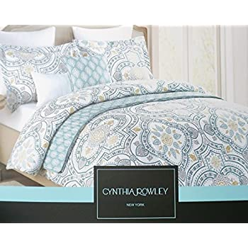 Amazon Cynthia Rowley Full Queen Duvet Cover Set