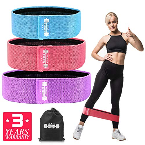 AOMEYO Resistance Bands for Legs and Butt, Exercise Bands Booty Bands Wide Workout Bands Fitness Sports Hip Band for Women and Men, Glute or Squat Workout Wide Stretching Gym Bands (2019 Upgraded) ()
