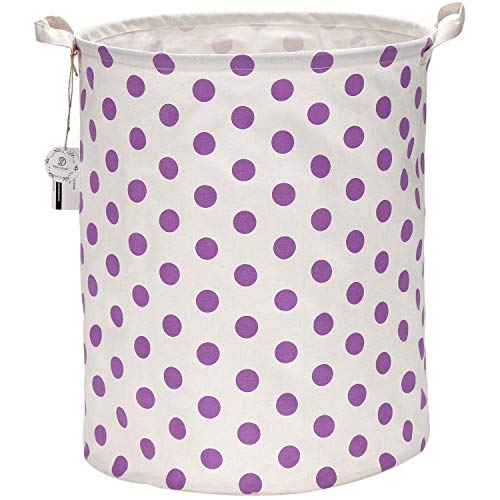 purple canvas basket - 6