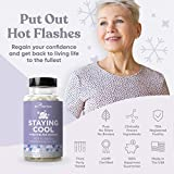 Staying Cool Hot Flashes & Menopause Natural Relief – Hormonal Weight Support, Night Sweats, Disturbed Sleep, Mood Swings – Vitex Chaste Tree & Black Cohosh Pills – 60 Vegetarian Soft Capsules