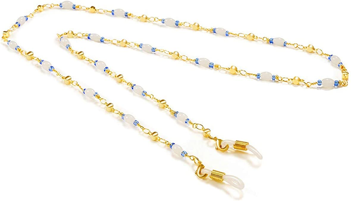 VINCHIC Colorful Beaded Eyeglass Chain Sunglass Holder Strap Eyeglass Necklace Chain Cord for Women