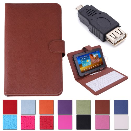 HDE Hard Leather Folding Folio Case Cover with - 7 Inch Rca Tablet Hard Case