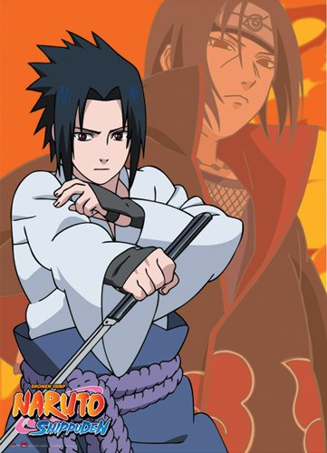 Great Eastern Entertainment Naruto Shippuden Itachi and Sasuke Wall Scroll