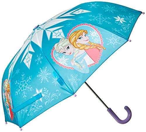 Western Chief Girls' Little Character Umbrella, Frozen Anna and Elsa, One Size ()