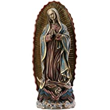 Our Lady of Guadalupe Virgin Mary Resin Statue, Bronze Color