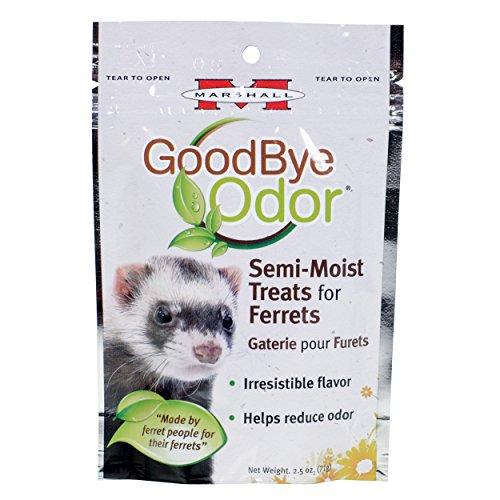 Marshall 41683 Goodbye Odor Semi-Moist Treats for Ferrets, 2.5 oz - Good Ferret Treats