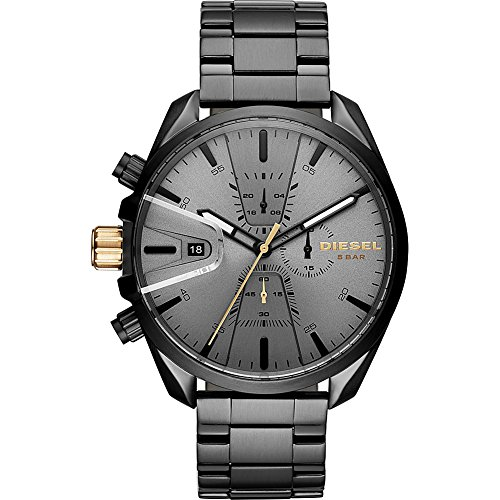 Diesel Watches Mens MS9 Chrono Black IP Watch