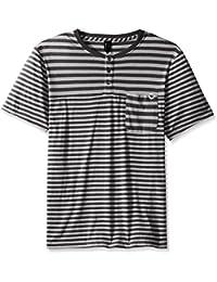 Men's Short Sleeve Raglan Henley Pocket Tee Shirt