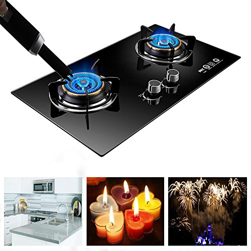Dibikou Electronic USB Charging Pulse Lighter Plasma Electronic Windproof for BBQ Kitchen Candles Fireworks Pipe Smoke & More