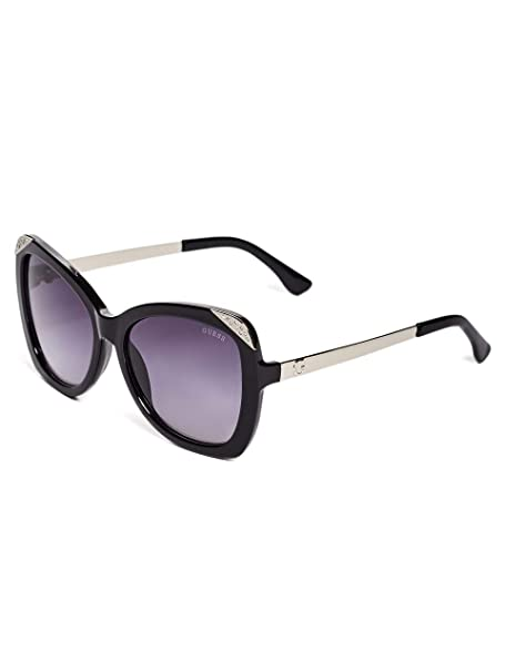 GUESS Factory Womens Square Rhinestone Sunglasses