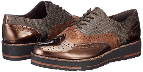 Marco Marrón Comb Met Zapatos Mujer De Para 23701 Vestir cafe Tozzi 11WnqAvU