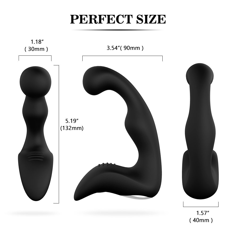 PHANXY 9 Speeds Prostate Massager Rechargeable G Spot Vibrator Waterproof Anal Sex Toy for Men, Women and Couples, Black by PHANXY (Image #5)