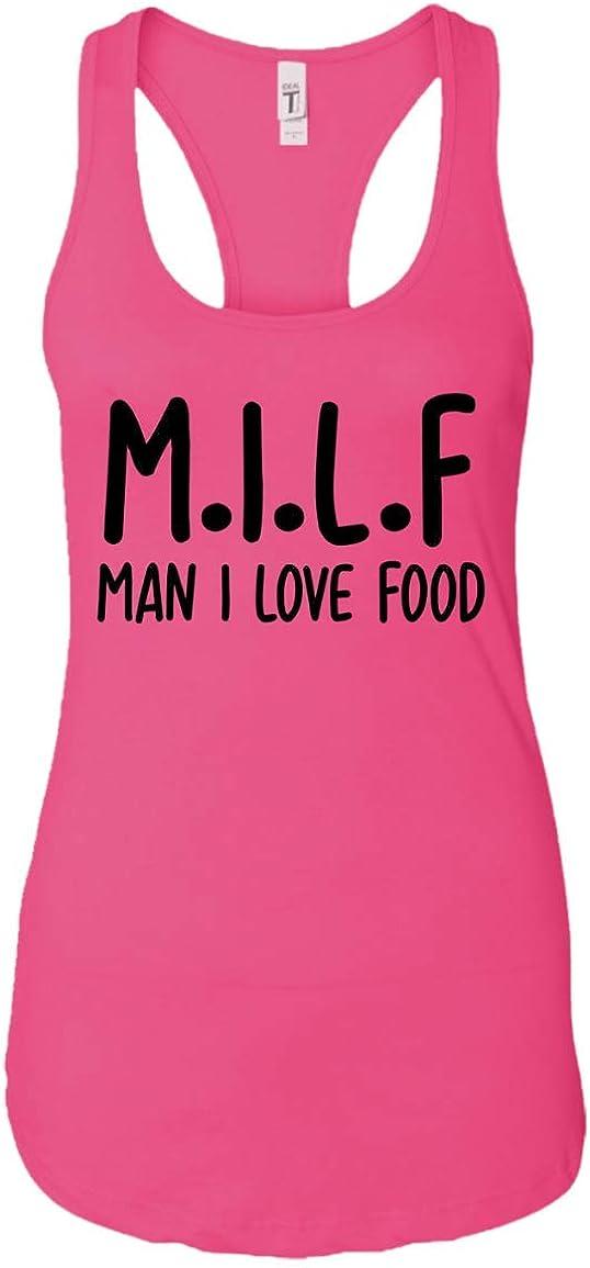 UMACVN Milf Man I Love Food Funny Sarcastic Tshirt for Women Gifts Tank Top for Girls Women