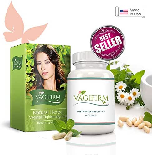 Vagifirm Vaginal Tightening Pills - All Natural Herbal Supplement. (1 Month Bottle Supply)