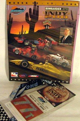 (Copper World Indy 200 Phoenix March 15-17 2002 Program & Pass)