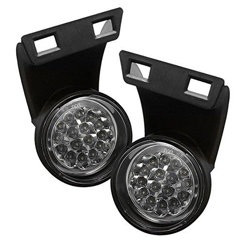 For 94-01 Dodge Ram BR BE Black Bezel Clear Lens Full White LED Bumper Driving Fog Light W/ Switch
