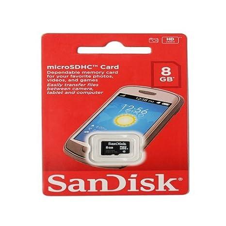 Sandisk 8  GB Micro SDHC Class 4