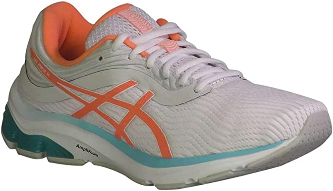ASICS Gel-Pulse 11 - Zapatillas de running para mujer, color blanco, coral: Amazon.es: Zapatos y complementos