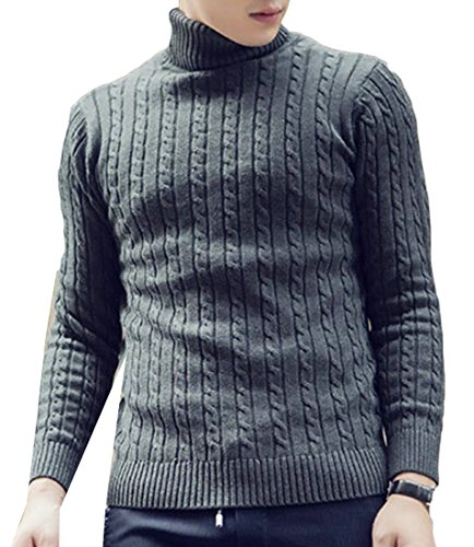 Pullovers M Dark Turtle Sweater Neck amp;W Sleeve amp;S Long Grey Fashion Men's 88Trq