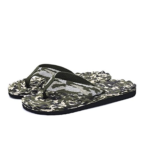 Flops da uomo Classic da da spiaggia 42 sandali Color EU Scarpe Jiuyue per Flip Dimensione uomo Verde shoes Pantofola Verde xYwqRO78