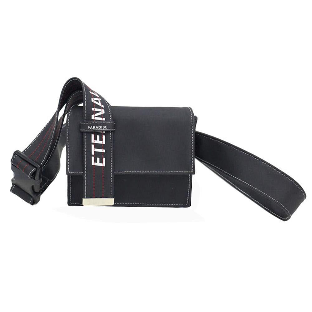 Black Satchel Shoulder Messenger Handbags Unisex Leather Crossbody Bags by newzeroin