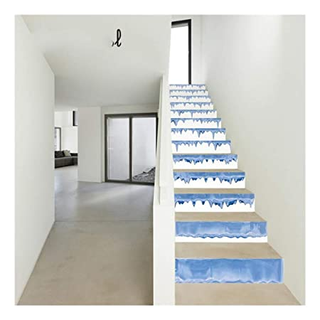 SERFGTFH Escaleras De Mosaico De DIY 3D Pegatinas Papel Tapiz Impermeable Extraíble Calcomanías Autoadhesivas Vertical Escalera por Escalera O A La Decoración del Hogar: Amazon.es: Hogar