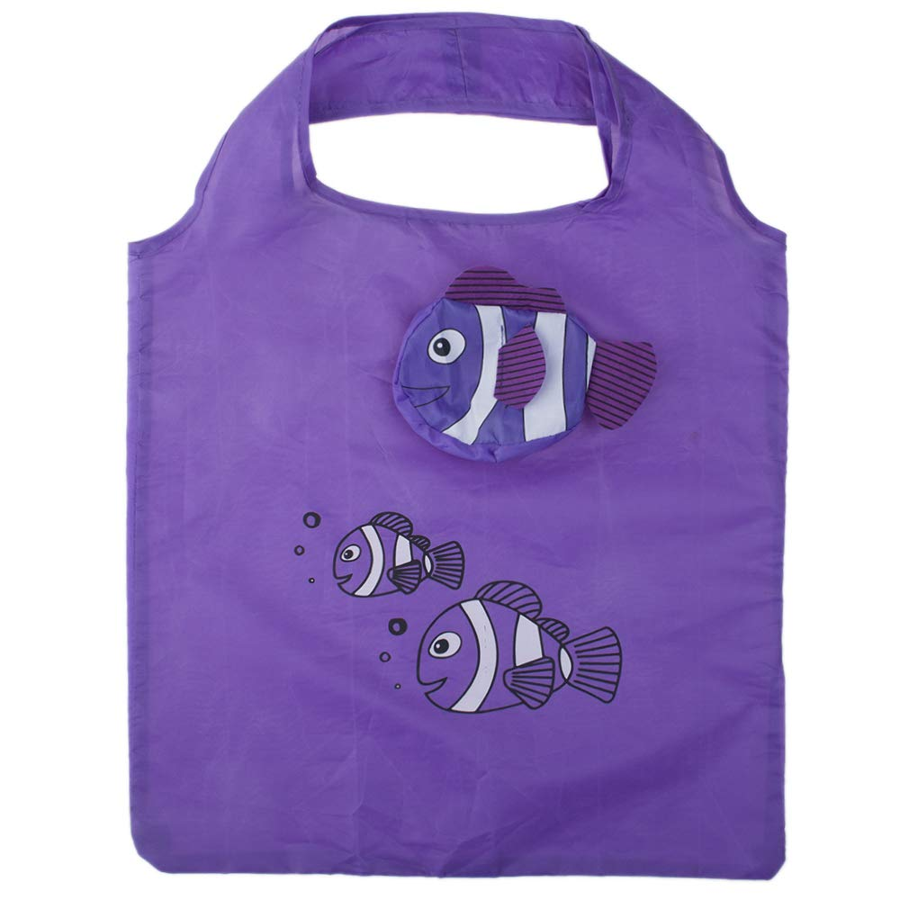 【使い勝手の良い】 Opromo B07GGF7833 10個魚の買い物袋カラフルな折り畳み式食料品袋のハンドルバッグ再利用可能なトートバッグ - オレンジ - オレンジ 100 Pack Pack B07GGF7833 パープル 10 Pack 10 Pack|パープル, 総合福祉アビリティーズ:98eebddc --- arianechie.dominiotemporario.com